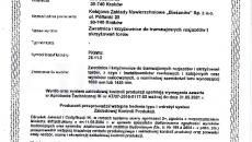 Certyfikat ZKP Zwrotnice i krzyżownice